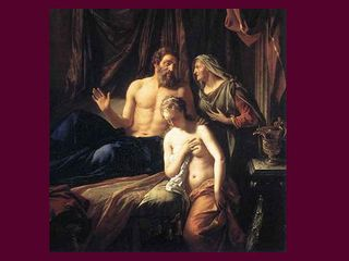 Sarah with Abraham and Hagar