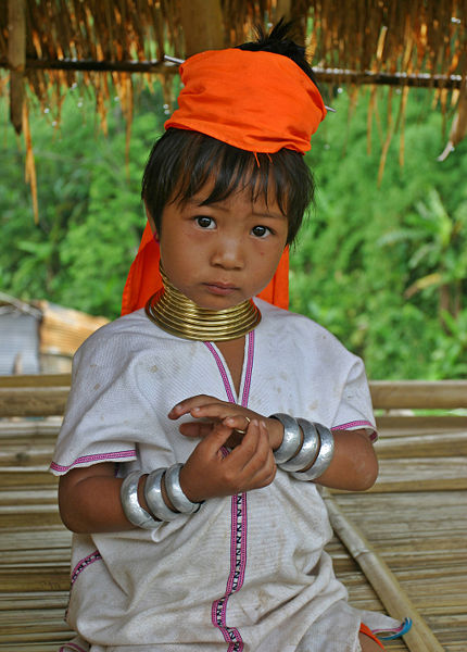 Kayan girl with neck rings
