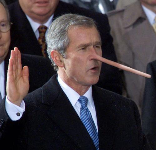 Bush lying