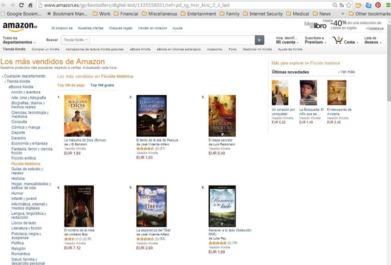 #1 in Kindle in Spain - Historical Fiction