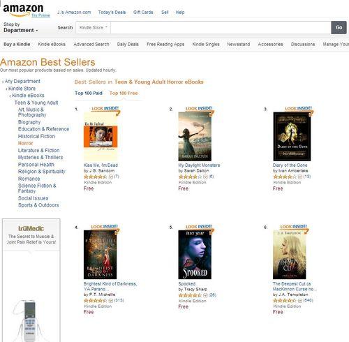 Amazon Top Ten in Teen Horror ~ Number 1